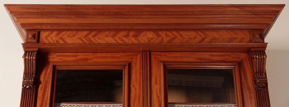 Eleganter Gründerzeit Aufsatz - Bücherschrank gefertigt um 1890 Antik Kolosseum 4