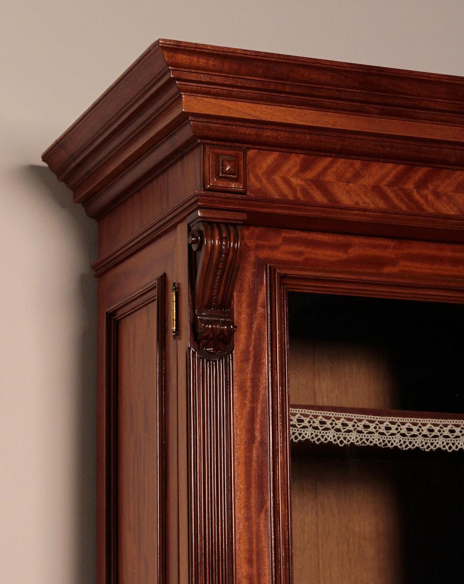 Eleganter Gründerzeit Aufsatz - Bücherschrank gefertigt um 1890 Antik Kolosseum 5