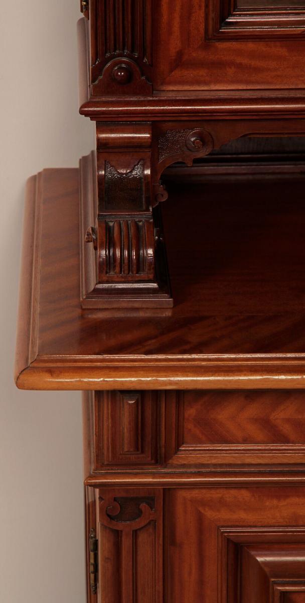 Eleganter Gründerzeit Aufsatz - Bücherschrank gefertigt um 1890 Antik Kolosseum 6