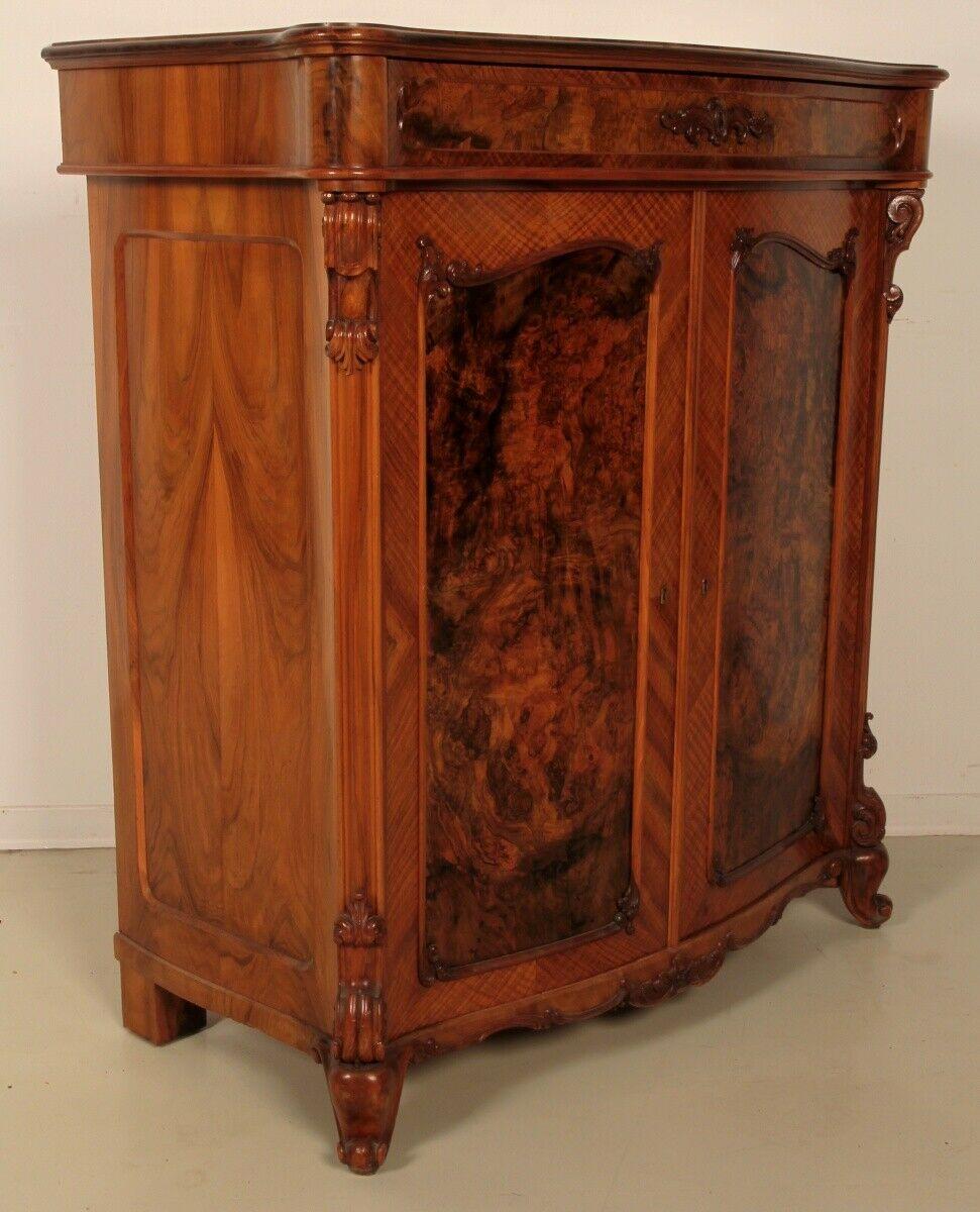 Repräsentatives Louis Philippe Vertiko mit schönen Beschlägen Antik Kolosseum 0