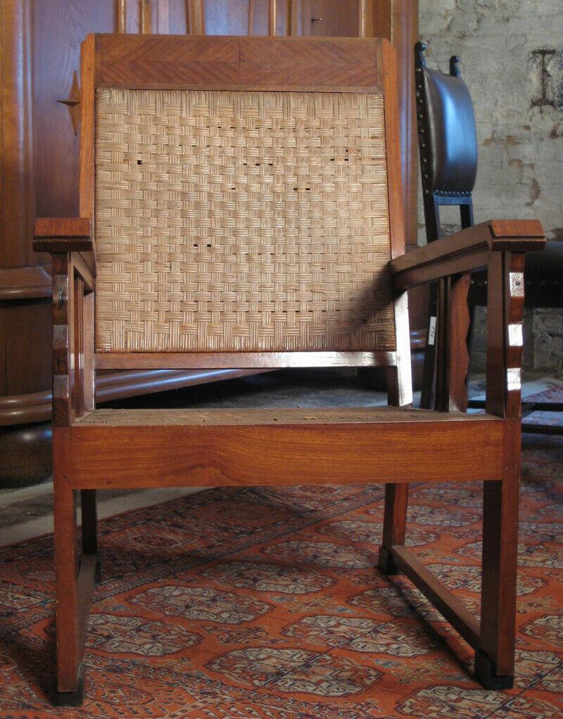 Nussbaum Sitzguppe des Pariser Art Deko Vier Armlehner und Tisch Antik Kolosseum 2
