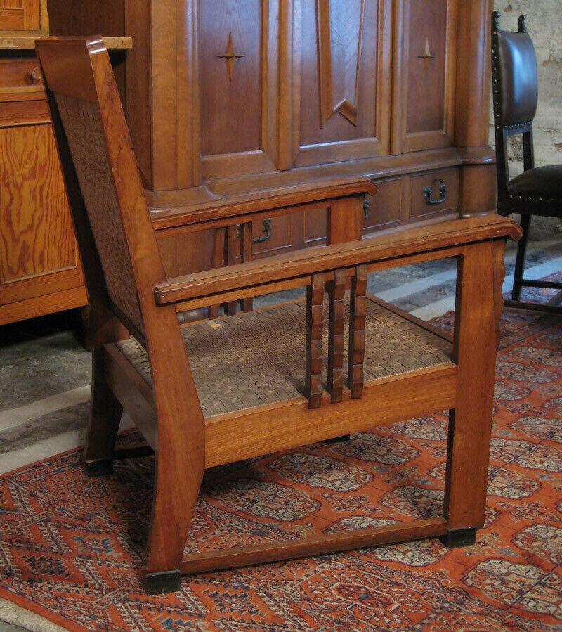 Nussbaum Sitzguppe des Pariser Art Deko Vier Armlehner und Tisch Antik Kolosseum 4