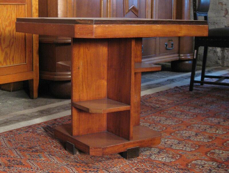 Nussbaum Sitzguppe des Pariser Art Deko Vier Armlehner und Tisch Antik Kolosseum 8