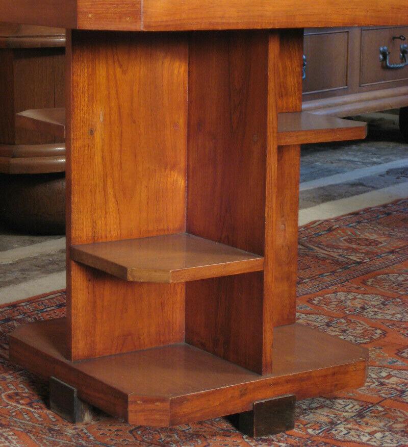 Nussbaum Sitzguppe des Pariser Art Deko Vier Armlehner und Tisch Antik Kolosseum 9