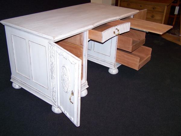 Art Deco Schreibtisch um 1920 aus Eiche Shabby Chic 2