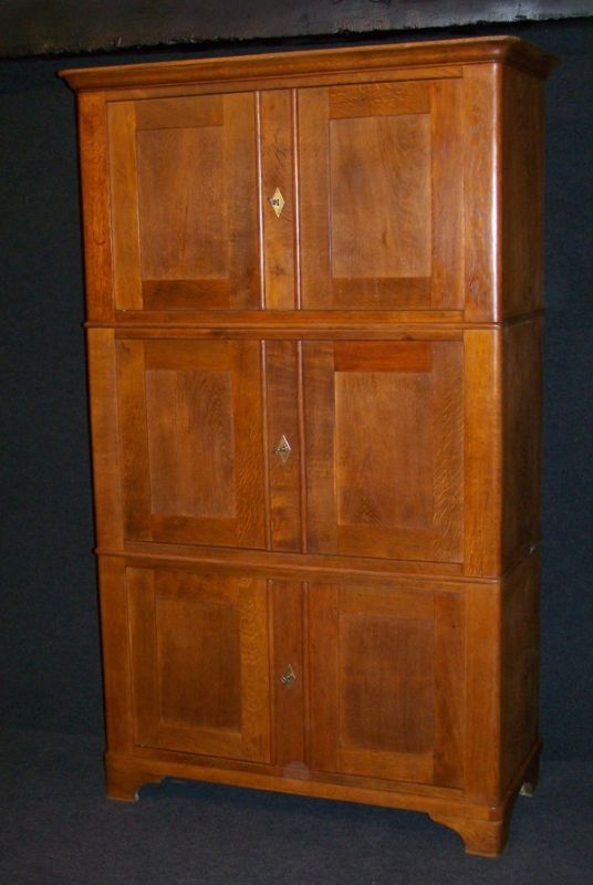 biedermeier brand schrank aus massiv eiche um 1830 nr 191857122914 oldthing andere zimmer. Black Bedroom Furniture Sets. Home Design Ideas