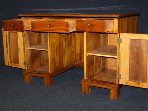 Biedermeier II. Zeit Schreibtisch aus  Nußbaum um 1900 1