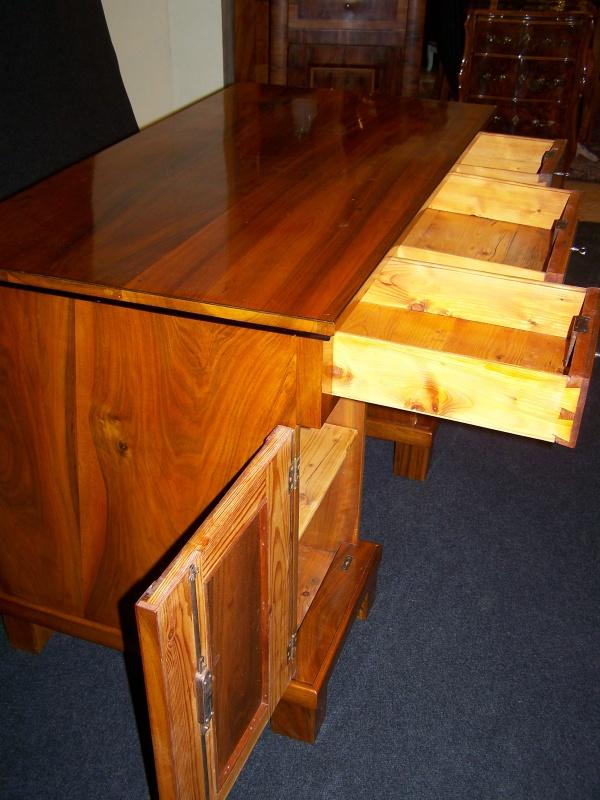 Biedermeier II. Zeit Schreibtisch aus  Nußbaum um 1900 3
