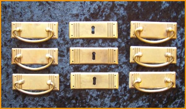 JS 3 Jugendstil Beschlag Set 3 Reihen