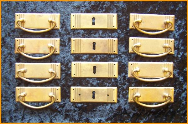 JS 3 Jugendstil Beschlag Set 4 Reihen