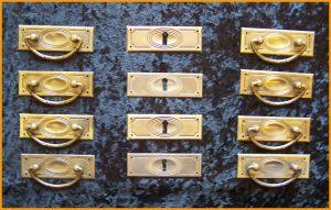 JS 1 Jugendstil Beschlag Set 4 Reihen