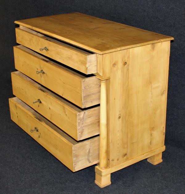 Biedermeier Kommode aus Fichte, um 1800, biologisch gewachst 3