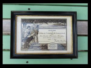 Päärchen * 2 ANTIK Gemälde Bilder Rahmen Schwarzlack Jugendstil * T O P * 1910 8