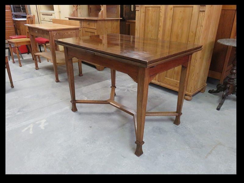 Nicolai Schule * Tisch mit 2 Auszugsplatten * Jugendstil um 1915