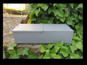* Schmuck Geld Papiere DDR Safe Kassette Stahl Blech mit Verschluss Brandtlack * 1
