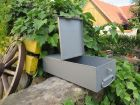 * Schmuck Geld Papiere DDR Safe Kassette Stahl Blech mit Verschluss Brandtlack * 3