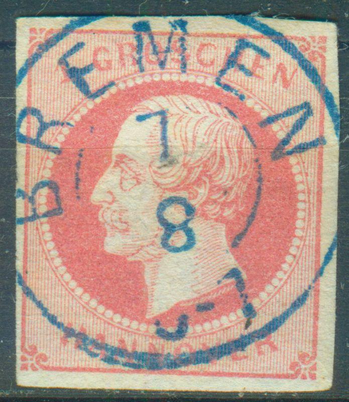BREMEN zentrischer Vollstempel auf Nr. 14