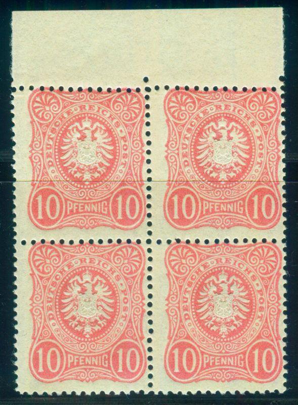 Oberrand Viererblock postfr. Frühauflage Nr. 41 ab I tiefst gep. Jäschke-L. BPP