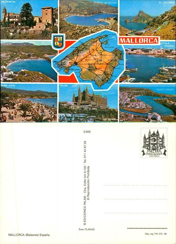 Porto Cristo Karte.Postkarte46501 Mallorca 8 Ansichten Karte Palma Porto Cristo El Colo
