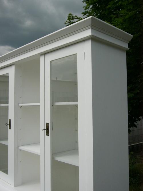 Vitrine Verkaufsvitrine Glas Schrank Sammlervitrine Landhaus 1