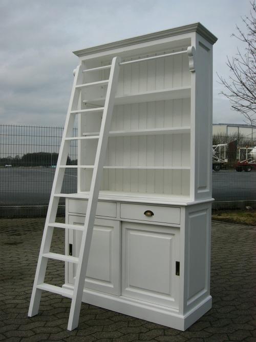 Bibliothek Bücherschrank Ladenwand im Landhaus Stil