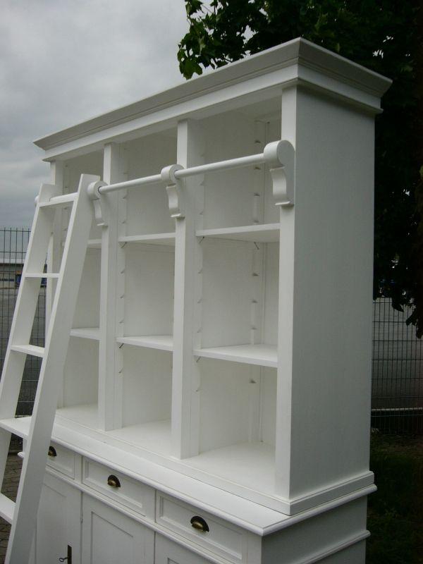 bibliothek b cherschrank b cherwand shabby look landhaus. Black Bedroom Furniture Sets. Home Design Ideas