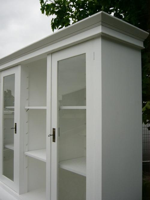 vitrine ladenvitrine verkaufsschrank glas schrank landhaus wei nr 191593859881 oldthing. Black Bedroom Furniture Sets. Home Design Ideas