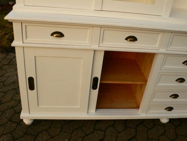 Ladenschrank Ladenwand Ladeneinrichtung Büchervitrine weiß 250cm 22