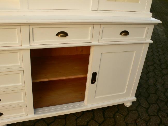 Ladenschrank Ladenwand Ladeneinrichtung Büchervitrine weiß 250cm 24