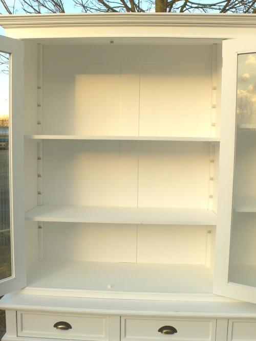 Ladenschrank Ladenwand Ladeneinrichtung Büchervitrine weiß 250cm 28