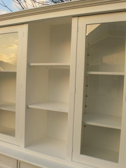 Ladenschrank Ladenwand Ladeneinrichtung Büchervitrine weiß 250cm 4
