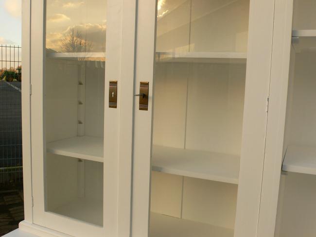 Ladenschrank Ladenwand Ladeneinrichtung Büchervitrine weiß 250cm 6
