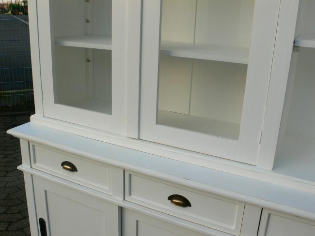 Ladenschrank Ladenwand Ladeneinrichtung Büchervitrine weiß 250cm 7