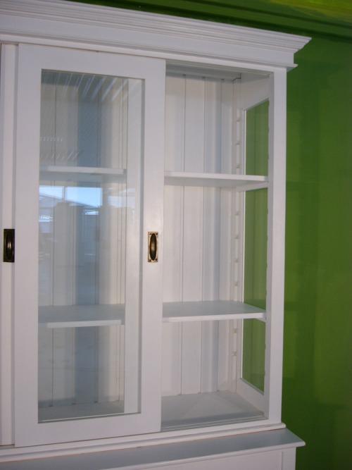 vitrine schiebet ren shabby look b chervitrine wei nr. Black Bedroom Furniture Sets. Home Design Ideas