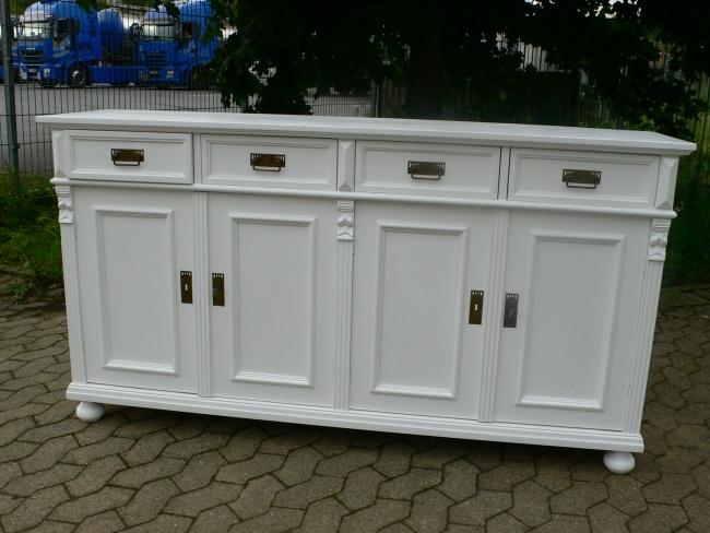 anrichte sideboard wei im landhaus stil highboard lowboard nr 191907736685 oldthing. Black Bedroom Furniture Sets. Home Design Ideas