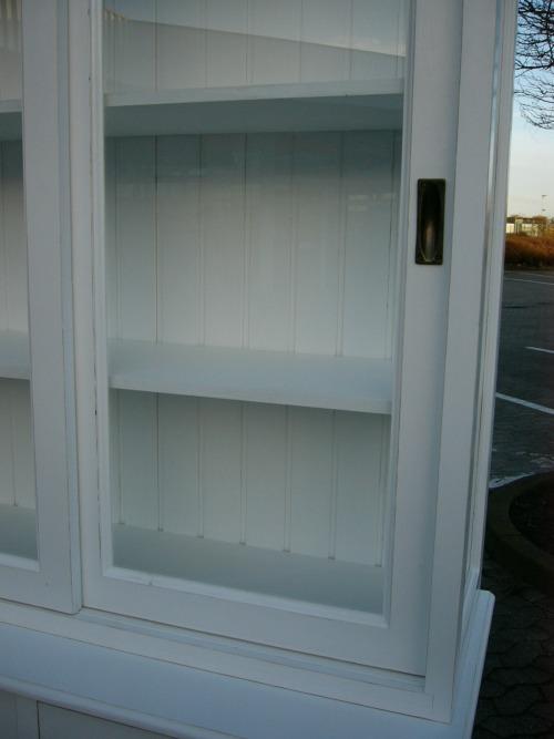 vitrine 3 seitig verglast im shabby look apothekerkommode wei nr 400873332199 oldthing. Black Bedroom Furniture Sets. Home Design Ideas
