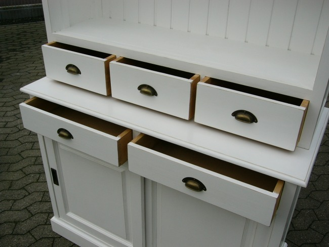 verkaufsschrank regal b cherwand wei buffet im landhaus stil. Black Bedroom Furniture Sets. Home Design Ideas