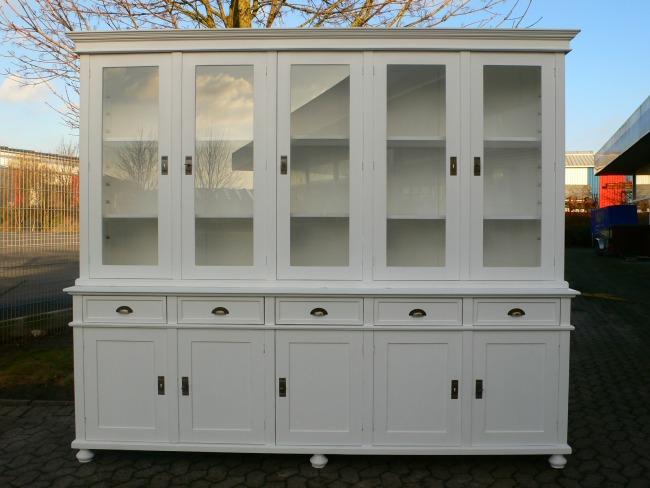 Ladenwand Bibliothek Vitrine Verkaufsschrank im Landhaus Stil Vintage massiv