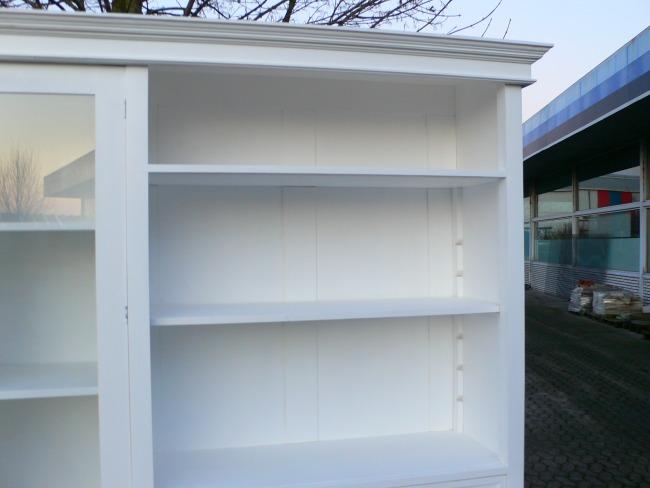 Bibliothek Ladenschrank Laden Regal Im Landhaus Stil Weiß 250 Cm 1