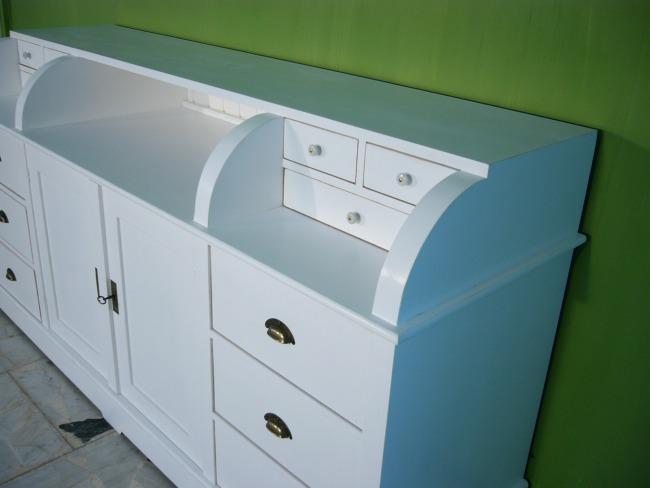 sideboard raumteiler ladentheke anrichte landhaus stil nr 401125248381 oldthing komplette. Black Bedroom Furniture Sets. Home Design Ideas