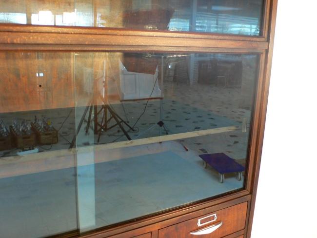 Ladenschrank aus Drogerie vollrestauriert antik original Sehr selten um 1940 Jhd 4