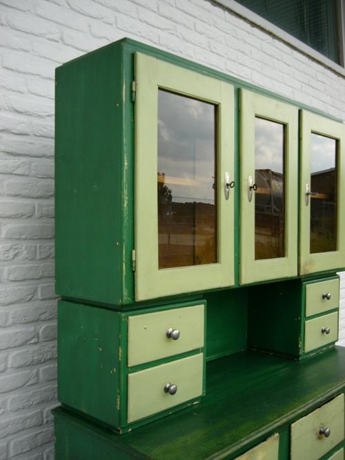 buffet antik k chenschrank 50er jahre im original shabby. Black Bedroom Furniture Sets. Home Design Ideas