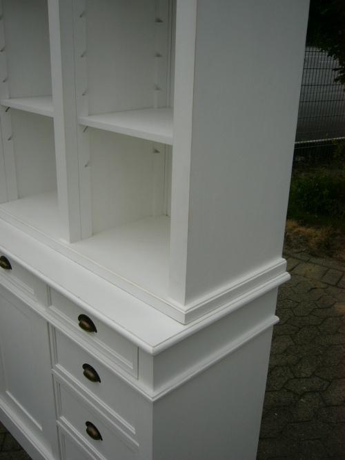 bibliothek b cherschrank b cherregal im landhaus look mit leiter nr 191651664105 oldthing. Black Bedroom Furniture Sets. Home Design Ideas