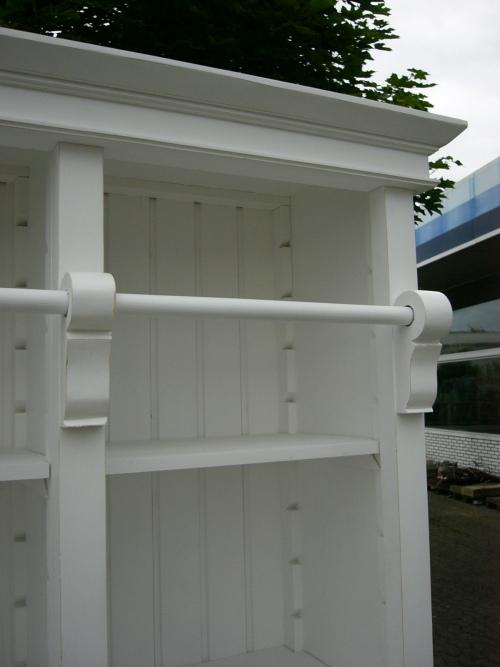 Bibliothek Bücherschrank Bücherregal im Landhaus Look mit Leiter 7