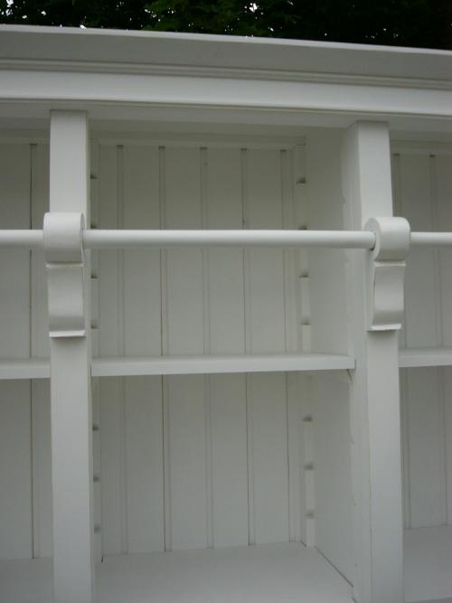 Bibliothek Bücherschrank Bücherregal im Landhaus Look mit Leiter 8