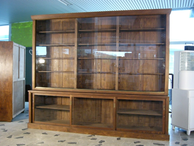 bibliothek 20er jahre weichholz antik original ladenwand um 1900 jhd nr 191987491627 oldthing. Black Bedroom Furniture Sets. Home Design Ideas