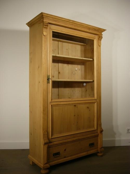 vitrine weichholz antik 1 t rig gr nderzeit schrank um. Black Bedroom Furniture Sets. Home Design Ideas