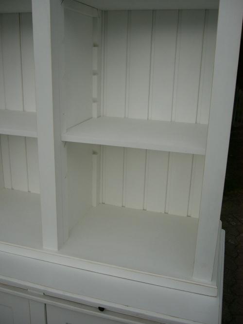 bibliothek b cherschrank b cherregal im landhaus look mit leiter nr 192085960221 oldthing. Black Bedroom Furniture Sets. Home Design Ideas