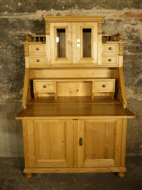 sekret r schreibtisch weichholz schrank kommode sehr dekorativ nr 192086788200 oldthing. Black Bedroom Furniture Sets. Home Design Ideas