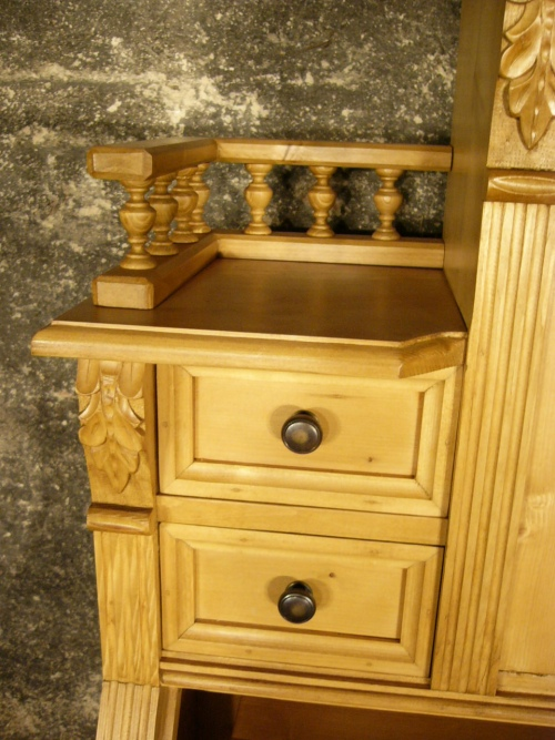 sekret r schreibtisch weichholz schrank kommode sehr dekorativ. Black Bedroom Furniture Sets. Home Design Ideas